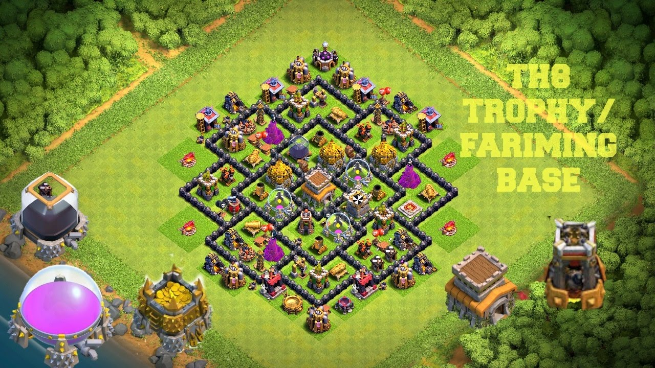 Town Hall 8 Best Trophy Base - fasrslow
